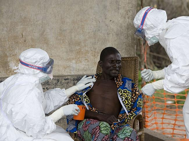 Highly contagious ... a 43-year-old Congolese man who contracted the virus in an earlier outbreak.