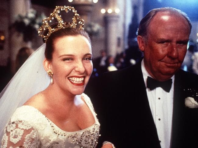 Classic Aussie film ... Toni Collette and Bill Hunter in Muriel's Wedding. Picture: Supplied