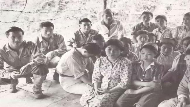 Comfort women were often held in buildings surrounded by barbed wire and soldiers.