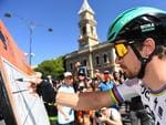 World Champion Slovakian cyclist Peter Sagan of team Bora-Hansgrohe signs on. Picture: Dan Peled/AAP