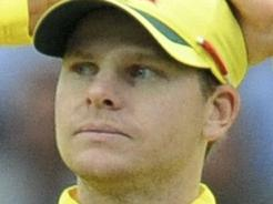 Australia captain Steve Smith looks on during the ICC Champions Trophy match between England and Australia at Edgbaston in Birmingham, England, Saturday, June 10, 2017. (AP Photo/Rui Vieira)