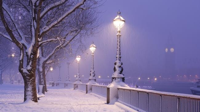London in the snow, which will not be happening this Christmas.