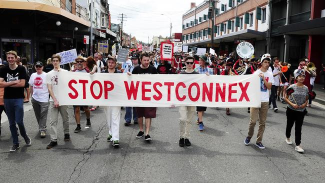 WestConnex has not been universally welcomed, particularly in Sydney's inner west where many houses have been demolished to build the road. Picture: John Appleyard