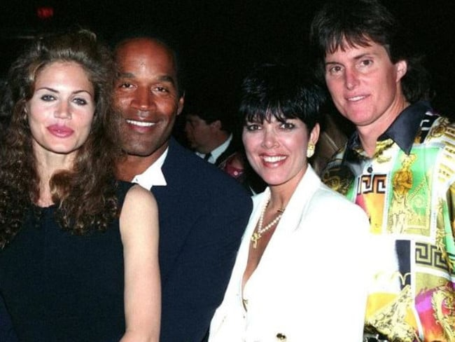OJ Simpson with then girlfriend Paula Barbieri and Kris and Bruce Jenner
