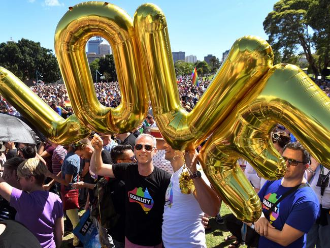 Over 16 countries in Europe have made same-sex marriage legal — Australia is still waiting. Picture: AFP/William West