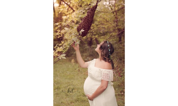 When mother of four, Kendrah Damis from Stark County, Ohio first started up her photography business, her longtime friend, Emily was excited to make a maternity shoot booking. This image may give you a little hint about what's to come, but you really need to continue to see the true magic of this maternity shoot.
