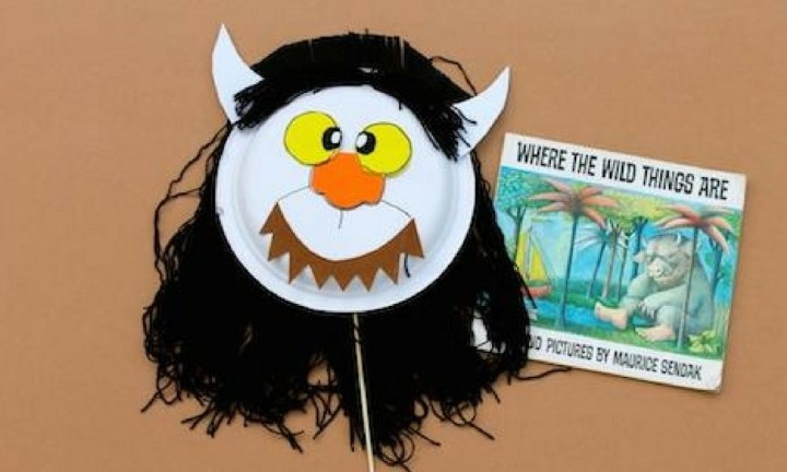ESCAPE WITH THE WILD THINGS. Join Max and escape with this simple paper plate design. Click on the link below for instructions on how to make this clever mask that will also keep the kids busy on a rainy day.