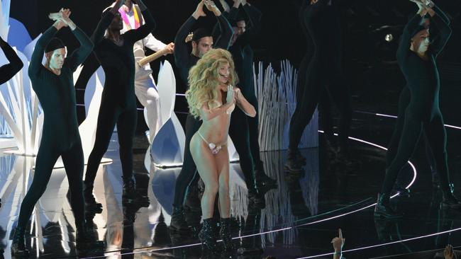 Lady Gaga opened the show with an eye-cat(ching performance. Picture: Rick Diamond/Getty Images for MTV