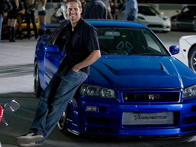 Paul Walker in Fast and the Furious film.