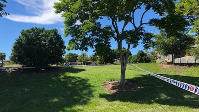 A park is roped off by police tape near the shooting. Photo Amanda Robbemond