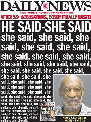 "Scathing ... the New York Daily News refers to Cosby as ""America's Predatrory Step Uncle""."