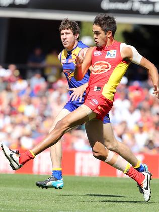 Jack Martin was one high point for the Suns against West Coast. Picture: Richard Gosling