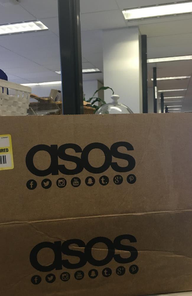 Rikki sometimes arrives to work with a box of ASOS goodies on her desk, which she purchased while asleep. Picture: Supplied.