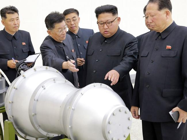 North Korean leader Kim Jong-un's nuclear ambitions have shocked the world. Picture: Korean Central News Agency/Korea News Service via AP