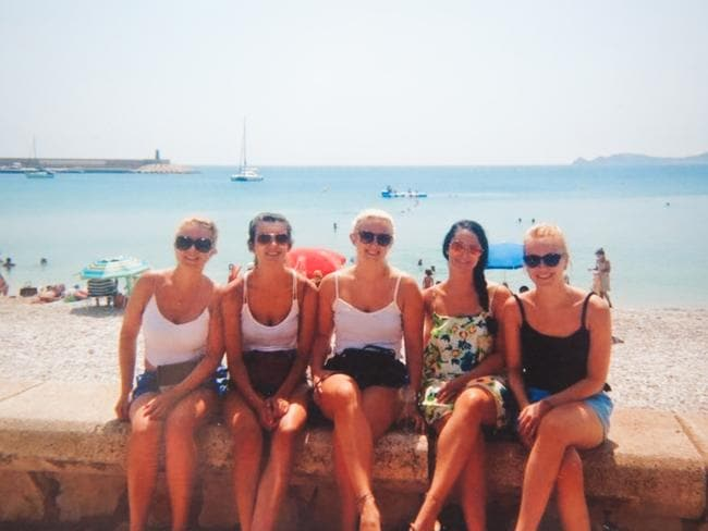 Laura Rose is picture on holidays with friends. Picture: Caters News