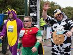 Characters in costume at the City to Surf. Picture: Matthew Poon