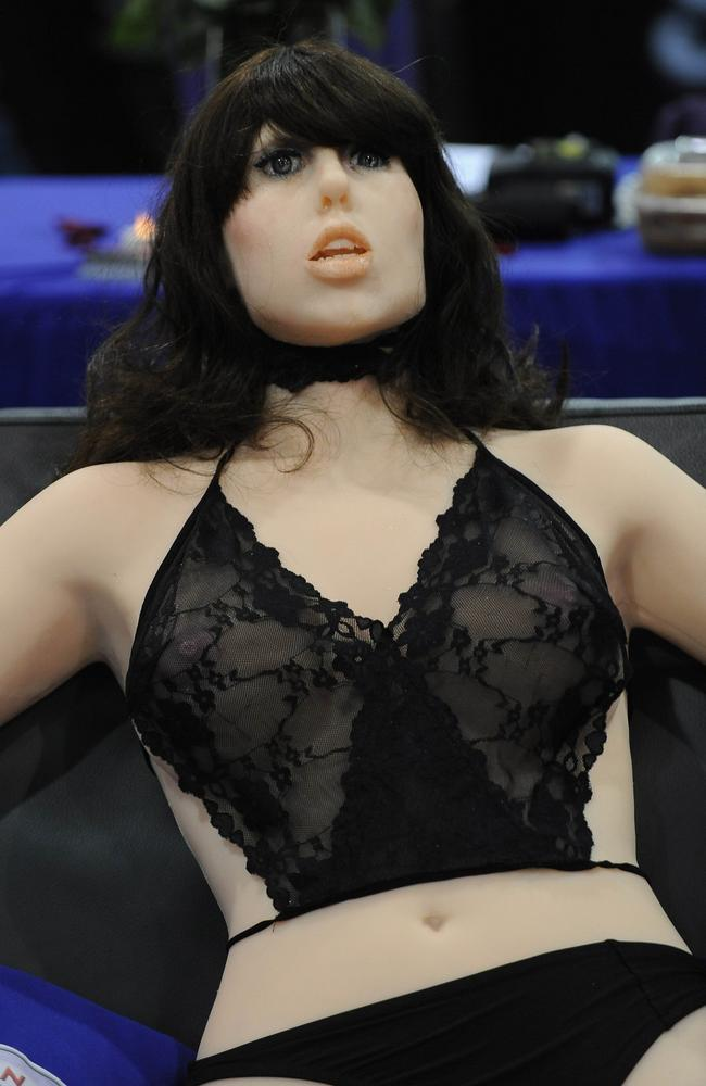 Male versions of sex robots, such as the life-size robotic girlfriend, Roxxxy, might replace men altogether. Picture: Robyn Beck/AFP