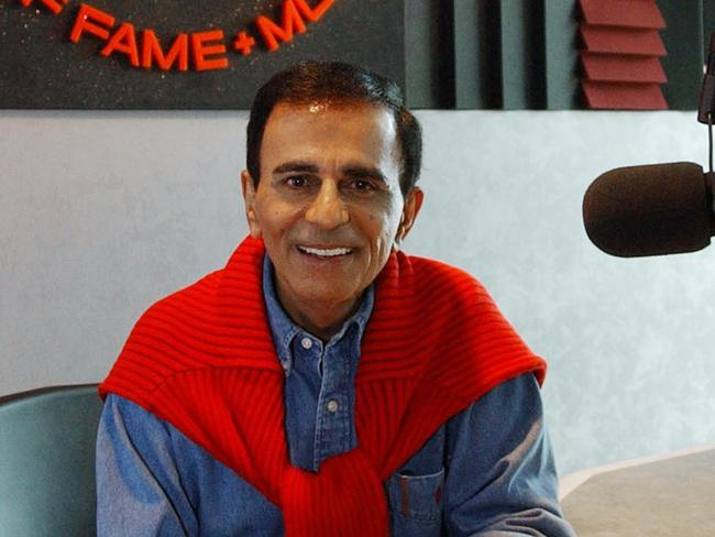 Radio star ... Casey Kasem at the Rock and Roll Hall of Fame in Cleveland. Picture: David G. Massey file)
