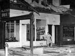 Damage to a city shop, caused by the 1954 earthquake in Adelaide.