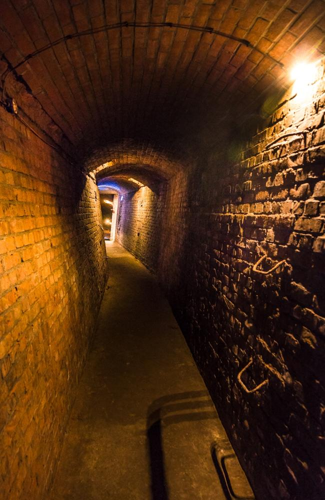 A tunnel down into the underground bunker. Picture: Solveig Grothe/Spiegel Online
