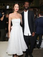 Singer Gary Clarke Jr and model Nicole Trunfio attend the Maticevski show at Mercedes-Benz Fashion Week Australia 2015 at Bay 25 Carriageworks on April 14, 2015 in Sydney, Australia. Picture: Getty