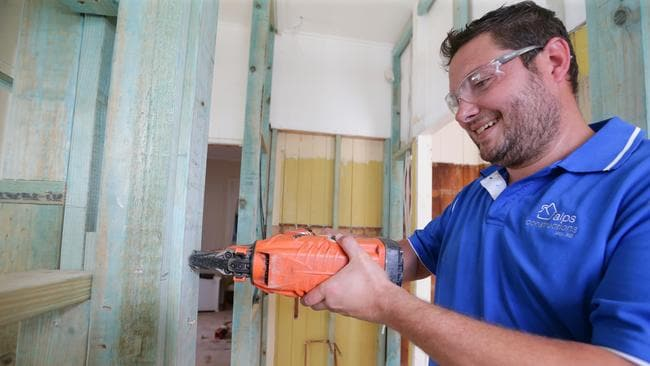 Paul Gueniat said prices for hiring other tradespeople for his projects had swelled. Pic: Peter Wallis