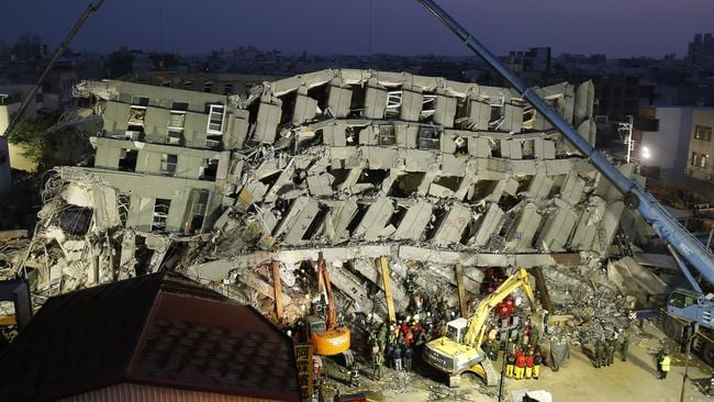 Rubble ... rescuers on Sunday found signs of life within the remains of the high-rise residential building that collapsed. Picture: AP/Wally Santana