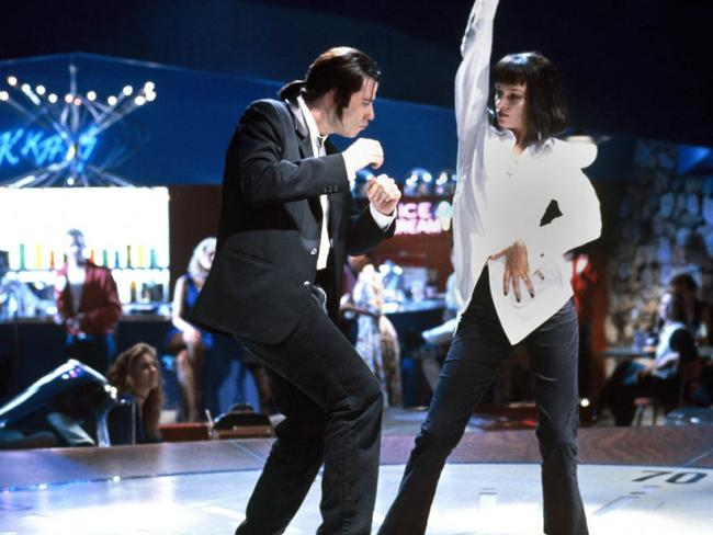 John Travolta and Uma Thurman in a scene from film Pulp Fiction. Picture: Supplied