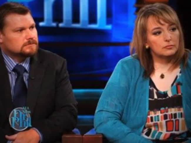Casey and Sandy Parsons, on the Dr Phil show. Picture: Supplied
