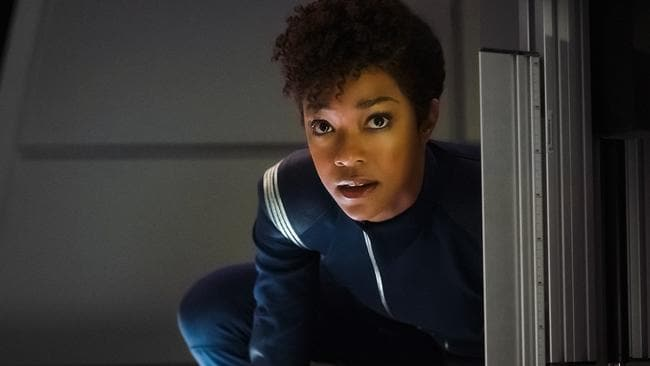 Sonequa Martin-Green as Michael Burnham is the hero we need. Picture: CBS/Jan Thijs