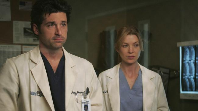 Derek and Meredith from Grey's Anatomy.