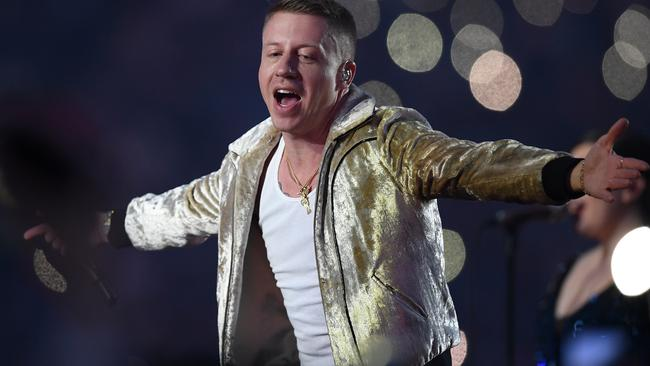 The No campaign became 'officially nutty' dealing with the appearance of US rapper Macklemore, said Tiernan Brady of the Yes campaign. Picture: AAP Image/Dan Himbrechts.