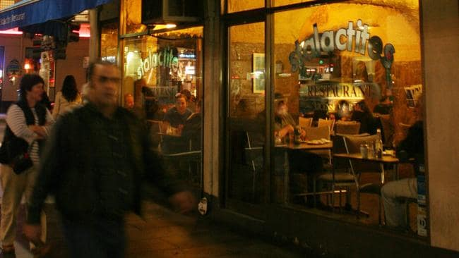 "Stalactites Restaurant in Lonsdale St, Melbourne, is proud of its ""world famous"" souvlaki."