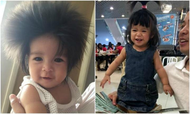 The toddler with a head of hair so incredible, it gets mistaken for a wig