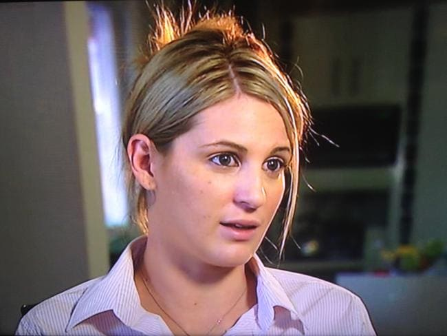 """I had to sit around for ages with their DNA inside me."" A brave Katrina Keshishian told her story on ABC's 7.30."