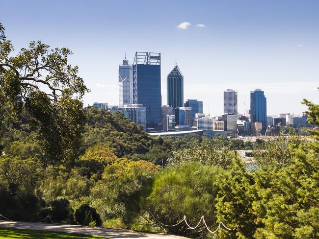 Perth, as seen from Kings Park.