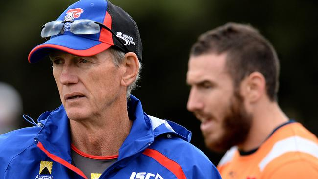 Wayne Bennett says he happy with the way the NRL focuses on players' welfare. Pic Peter Lorimer.