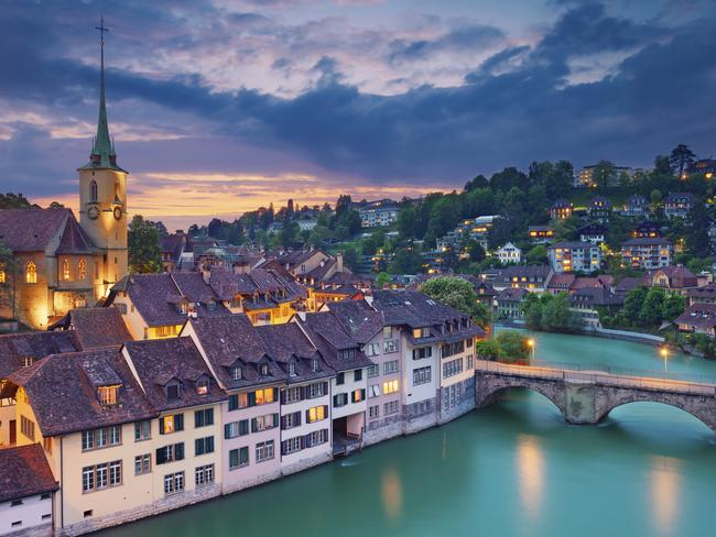 The dramatic sunset over Bern, which — despite being the Swiss capital — is shamefully overlooked by tourists.