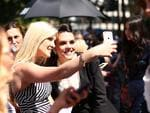 Louise Adams takes a selfi with fans arriving for the 29th Annual ARIA Awards 2015 at The Star on November 26, 2015 in Sydney, Australia.Picture: Ryan Pierse / Getty Images