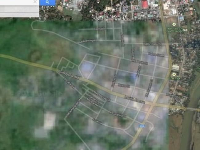Valencia City in the Philippines is mostly blurred out