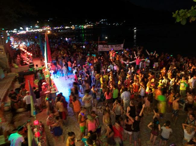 Moon party bans ... Thousands of Australian backpackers likely to be disappointed. Picture: Supplied.