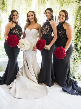 The gorgeous brides and beautiful bridesmaids. Picture: MM Photos