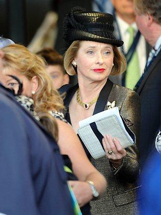 Gai Waterhouse after More Joyous' shock failure in the All Aged Stakes. Picture: Piper Jeremy