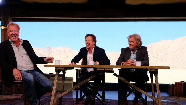 Jeremy Clarkson, Richard Hammond and James May on  <i>The Grand Tour</i>. Picture: Supplied.