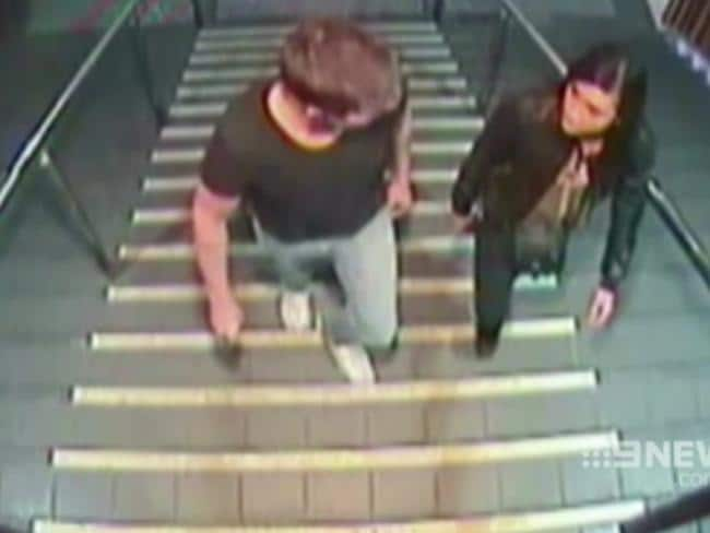 CCTV footage of Gable Tostee with Warriena Wright on the night she fell from his Gold Coast apartment.