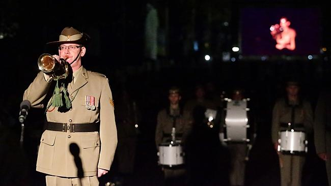 Crowds gathered from 3am to be a part of the Sydney Anzac Day dawn service. Picture: Bill Hearne