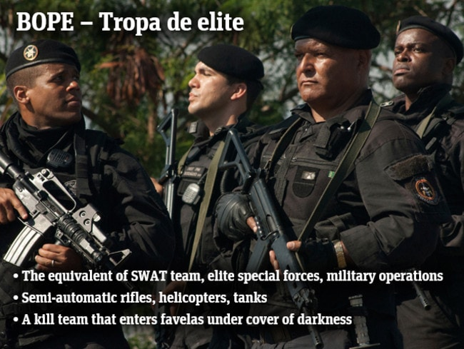 The BOPE are Brazil's deadliest police, who can 'shoot to kill at any criminal threatening both civilian or member life.