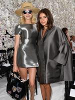 Fashionistas Elena Perminova and Miroslava Duma attend the Christian Dior show as part of Paris Fashion Week - Haute Couture Fall/Winter 2014 in Paris, France. Picture: Getty