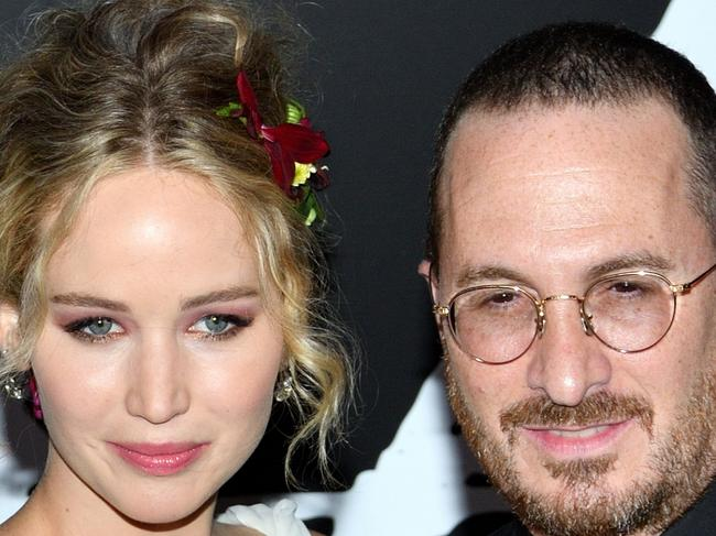 The NY premiere of Mother! at Radio City Music Hall in New York, NY on September 13, 2017.  (Photo by Stephen Smith/SIPA USA)  Pictured: Actress Jennifer Lawrence and director Darren Aronofsky Ref: SPL1578239  130917   Picture by: SIPA USA / Splash News  Splash News and Pictures Los Angeles: 310-821-2666 New York: 212-619-2666 London: 870-934-2666 photodesk@splashnews.com