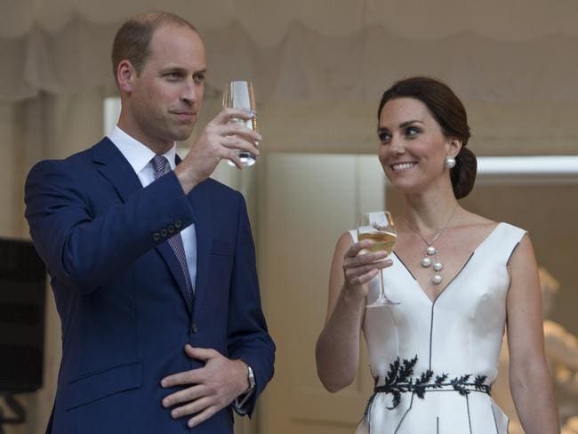 Prince William, Duke of Cambridge and Catherine, Duchess of Cambridge at the Orangery, Lazienki Park on day 1 of their official visit to Poland. Picture: Julian Simmonds-Pool/Getty Images